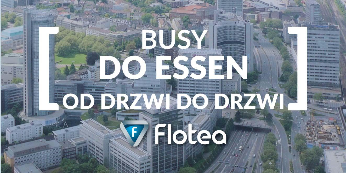 Busy do Essen od drzwi do drzwi z wielu miast Polski