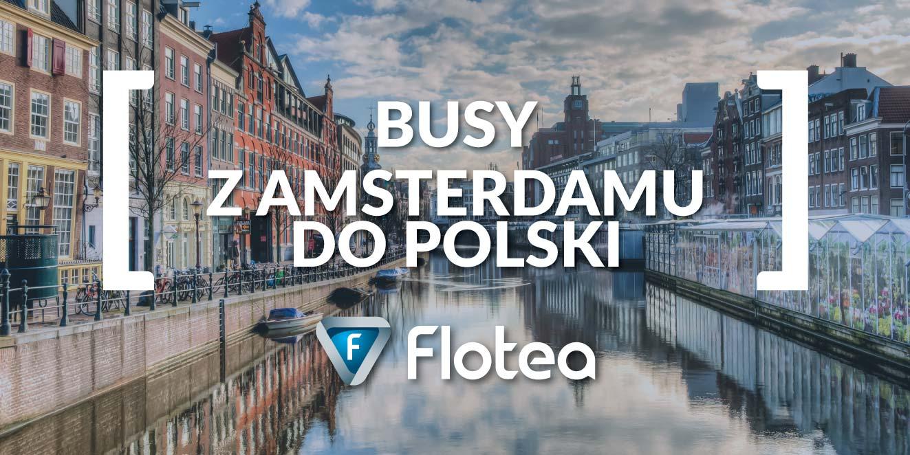 Busy z Amsterdamu do Polski od drzwi do drzwi