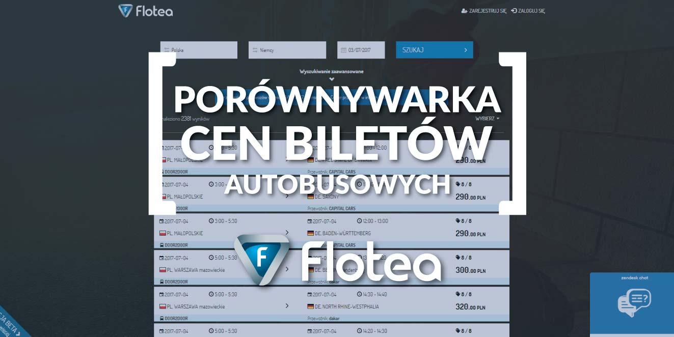 Porównywarka cen biletów autobusowych Flotea.pl