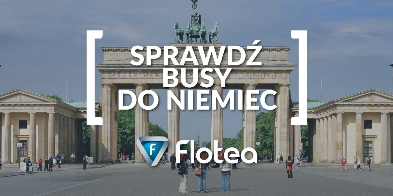 Busy do Niemiec z Flotea.pl Sprawdź dostępne kierunki