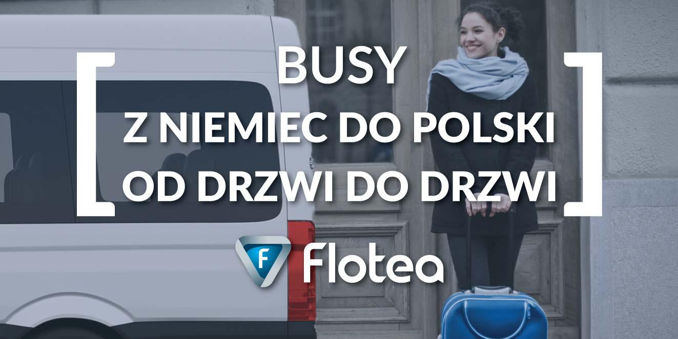 Busy z Niemiec do Polski od drzwi do drzwi